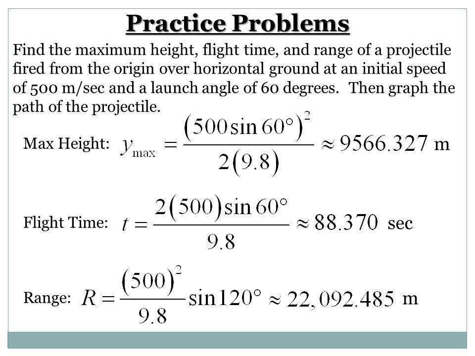 Practice Problems m sec m