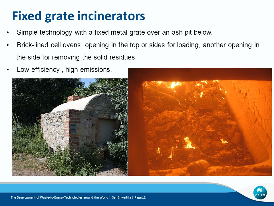 Fixed grate incinerators