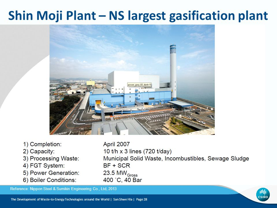 Shin Moji Plant – NS largest gasification plant
