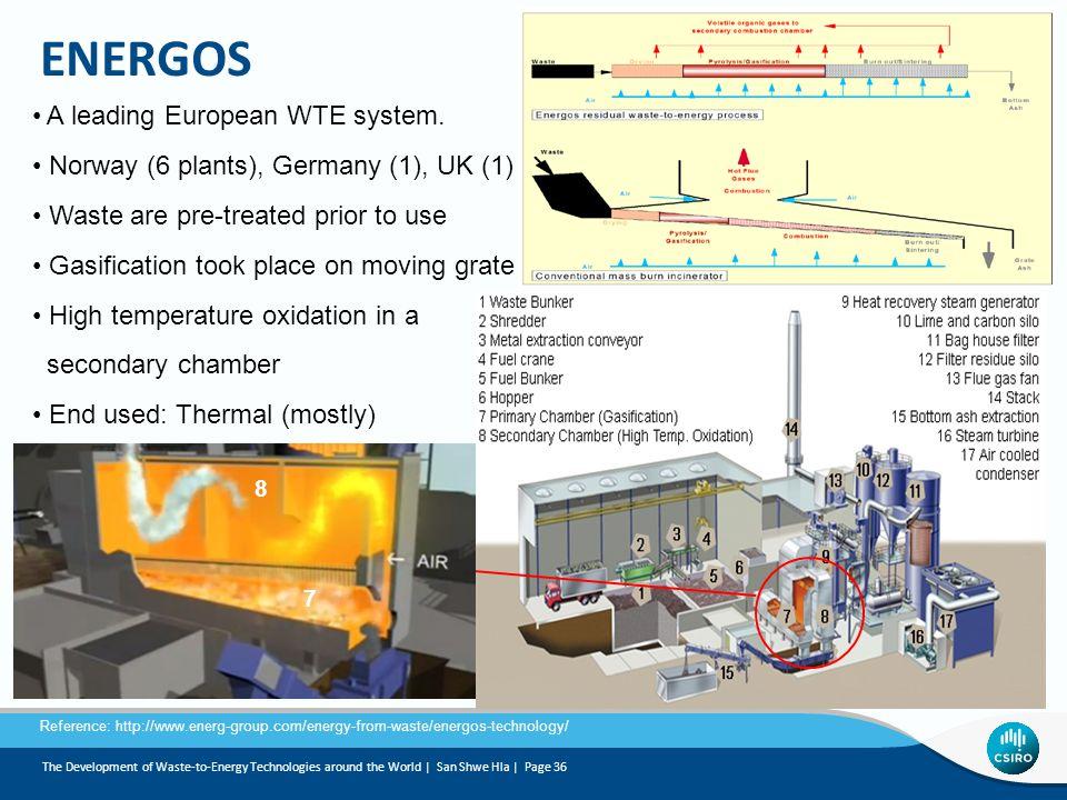 ENERGOS A leading European WTE system.
