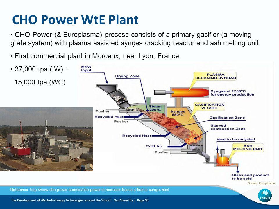 CHO Power WtE Plant