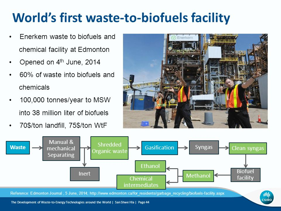 World's first waste-to-biofuels facility