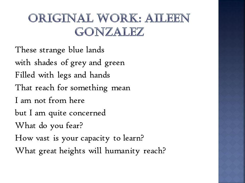ORIGINAL WORK: AILEEN GONZALEZ