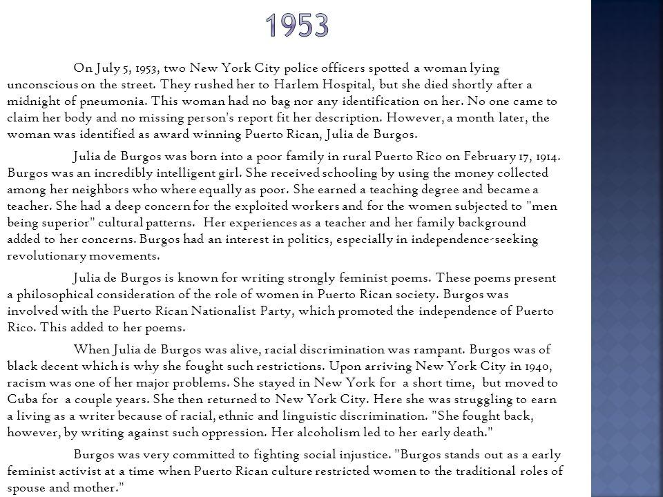 About julia de burgos (1914-1953