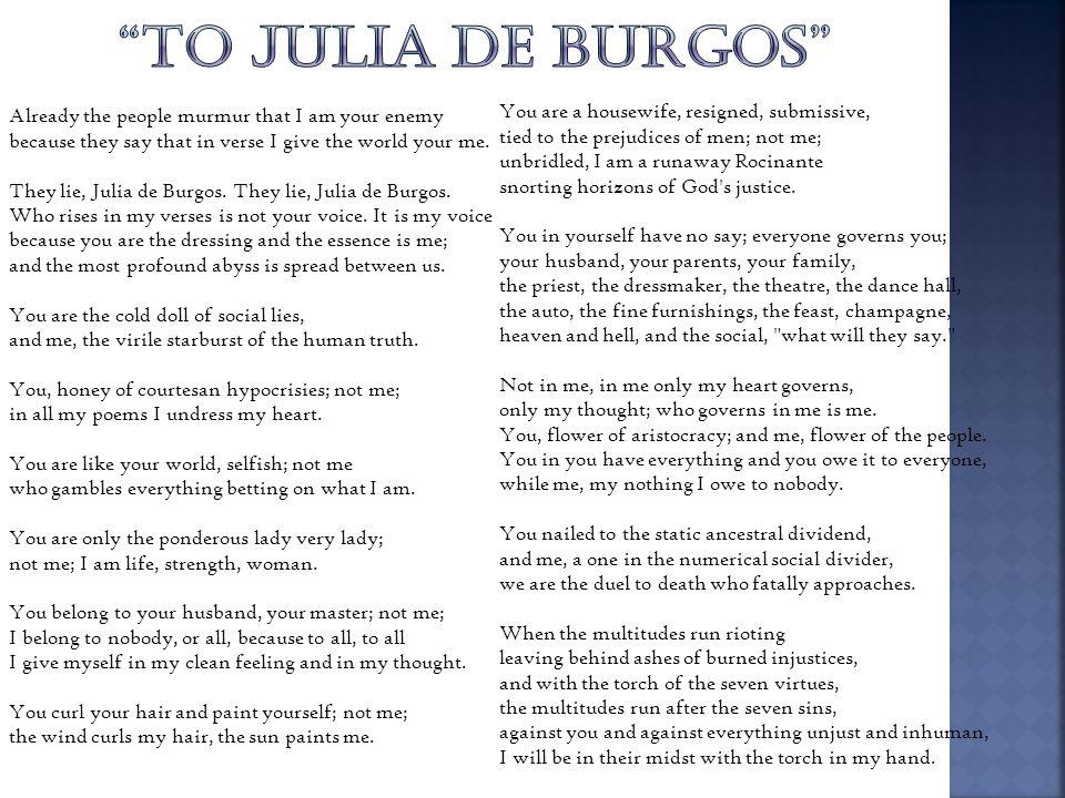TO JULIA DE BURGOS