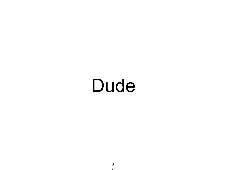 Dude 303303303