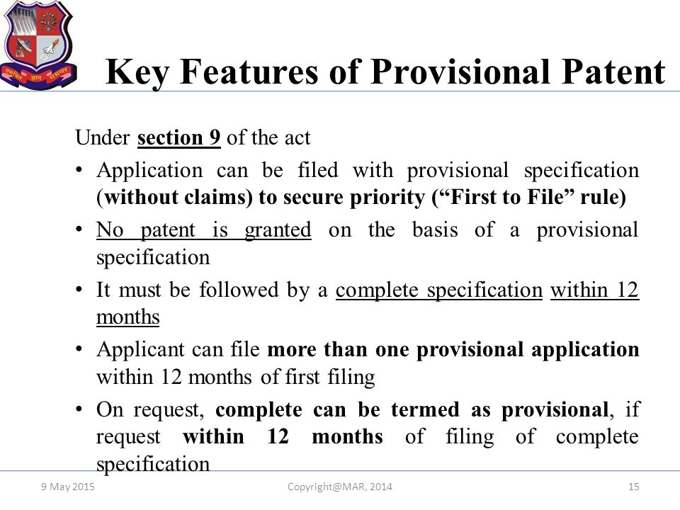 Key Features of Provisional Patent