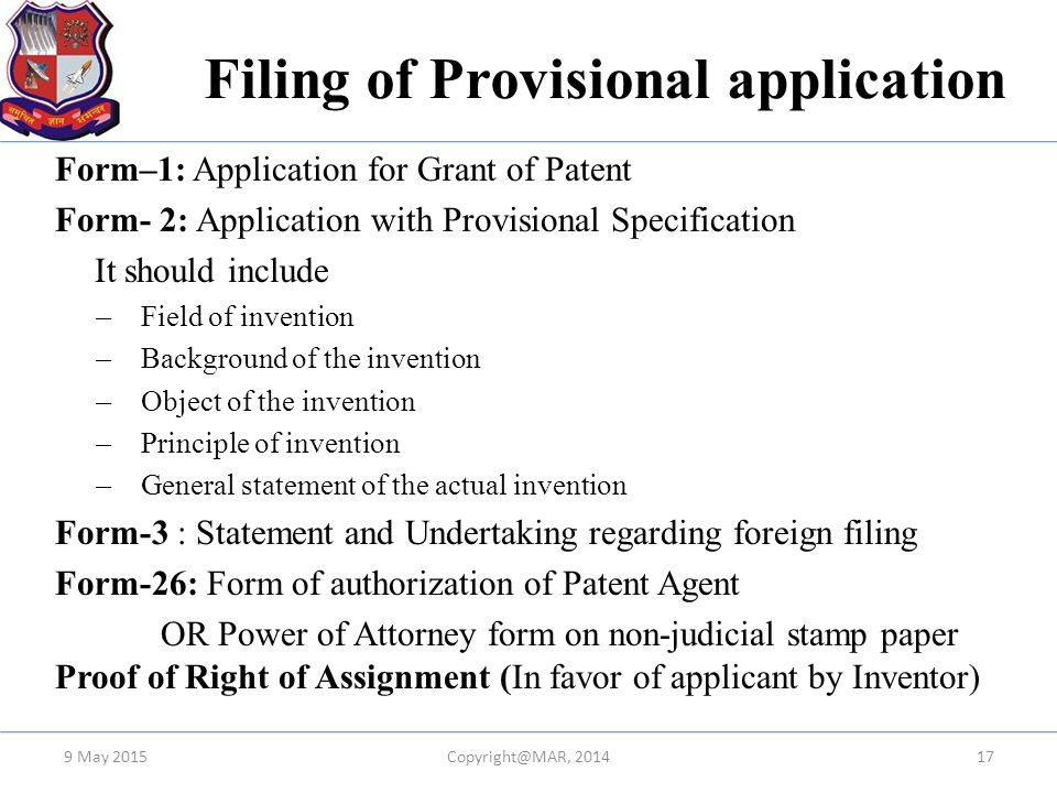 Overview Of Drafting  Filing Of Patent In India  Ppt Video Online