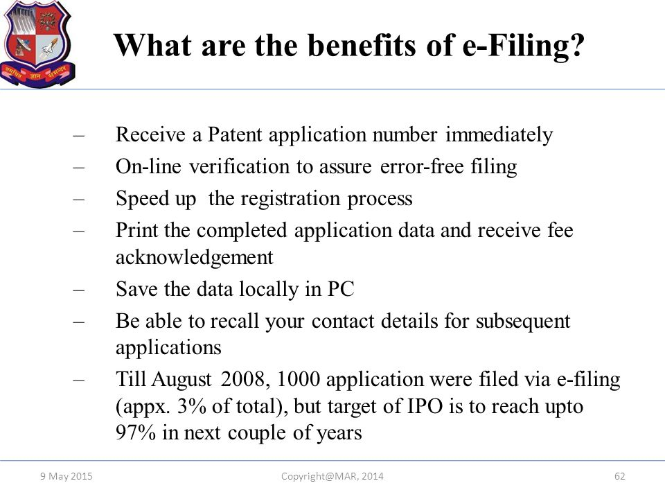 What are the benefits of e-Filing