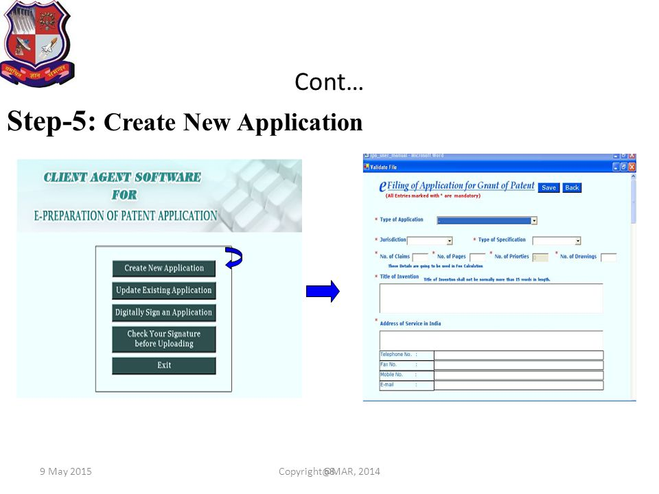 Step-5: Create New Application