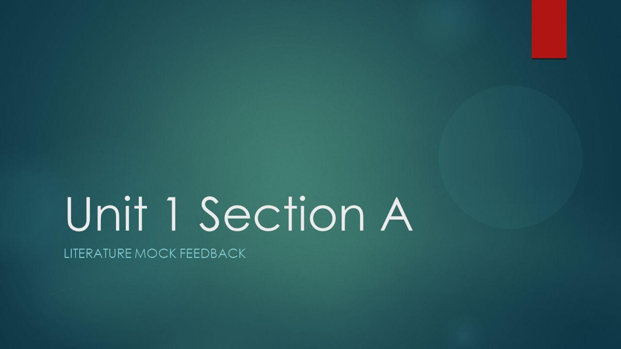 Literature Mock feedback