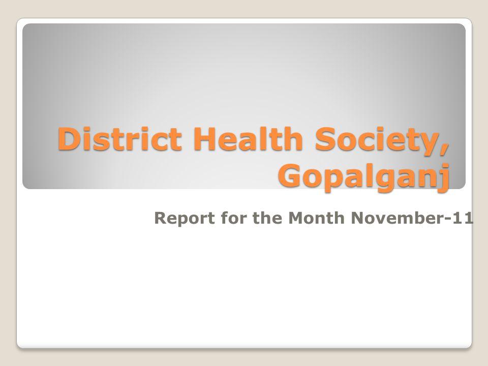 District Health Society, Gopalganj