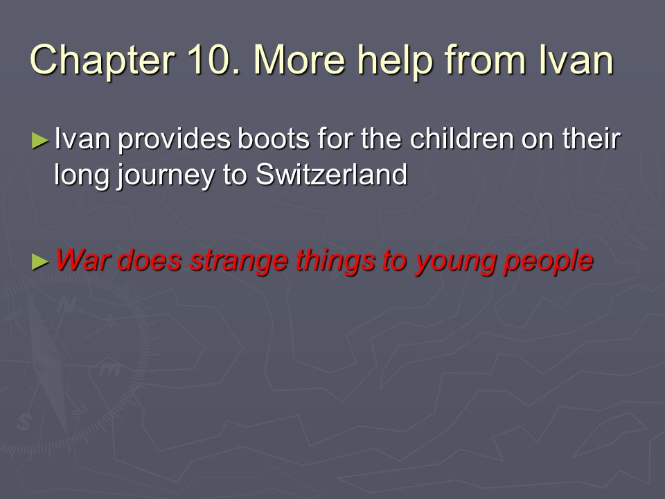 Chapter 10. More help from Ivan