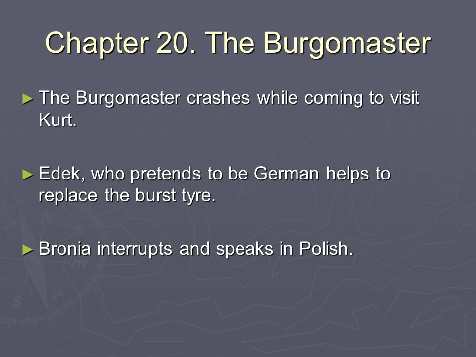Chapter 20. The Burgomaster