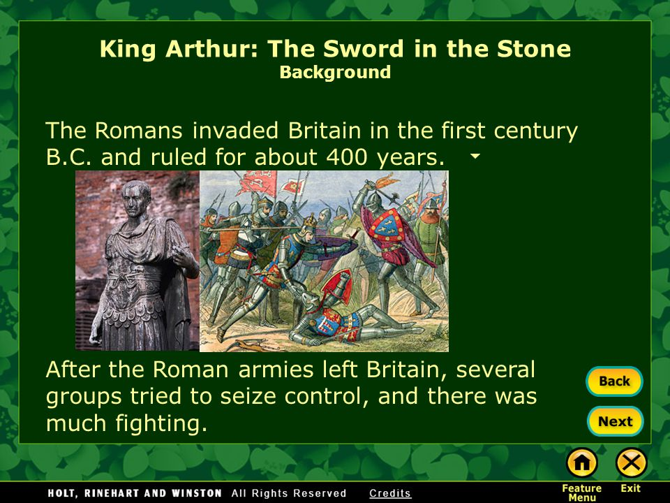 King Arthur: The Sword in the Stone Background