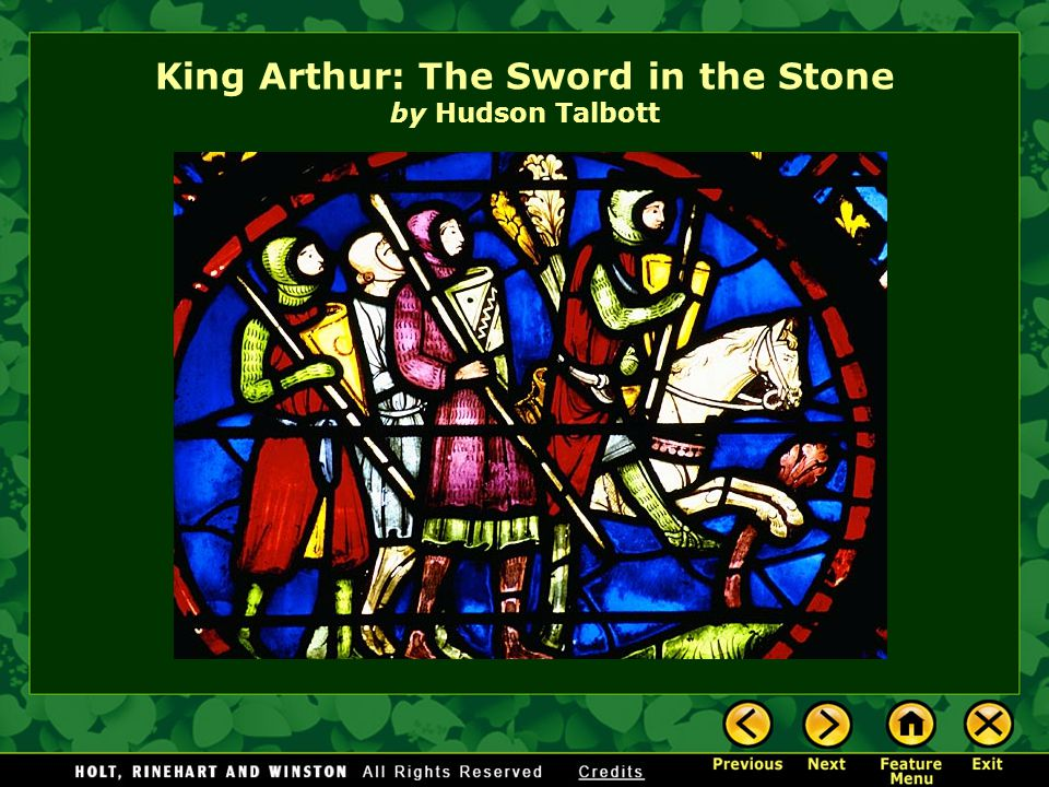 King Arthur: The Sword in the Stone by Hudson Talbott