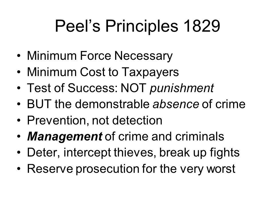 Peel's Principles 1829 Minimum Force Necessary