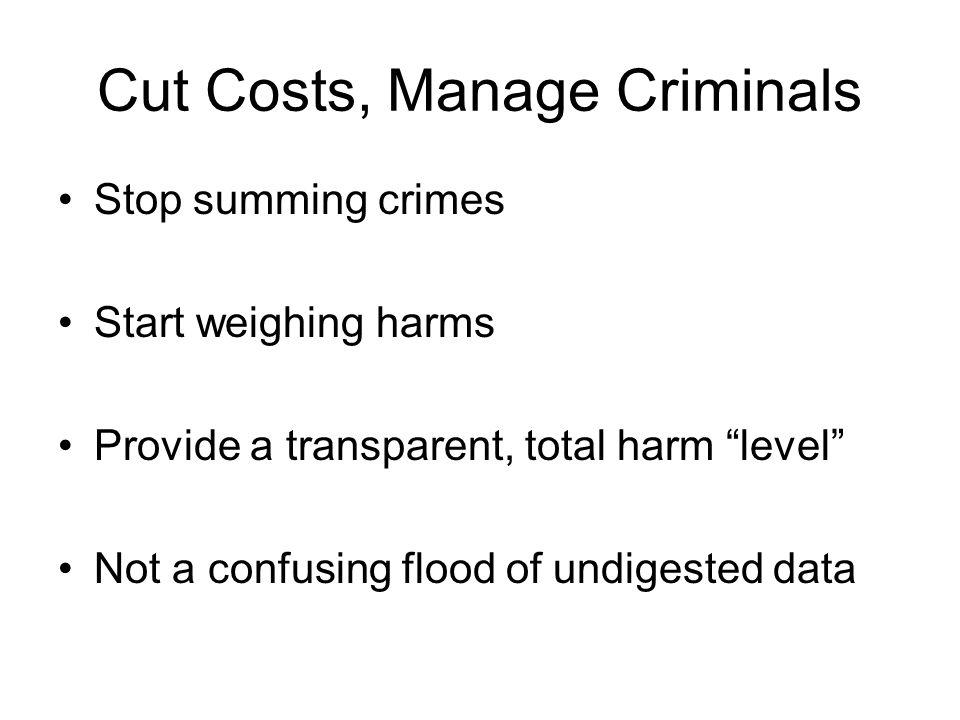 Cut Costs, Manage Criminals