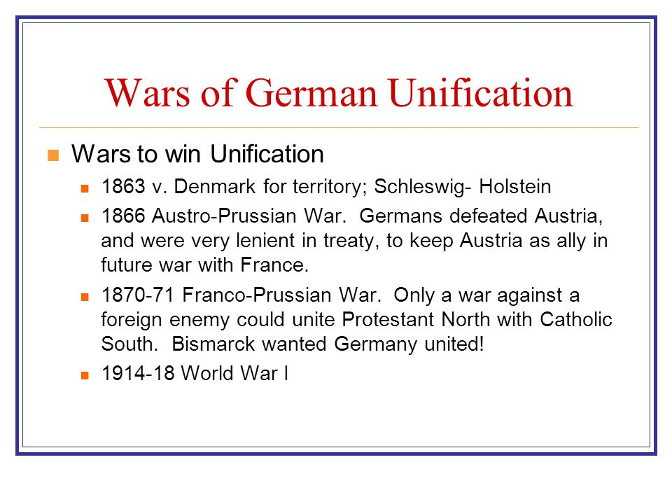 Wars of German Unification
