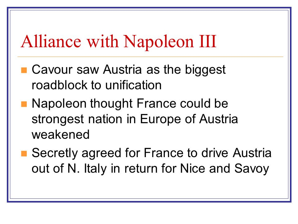 Alliance with Napoleon III