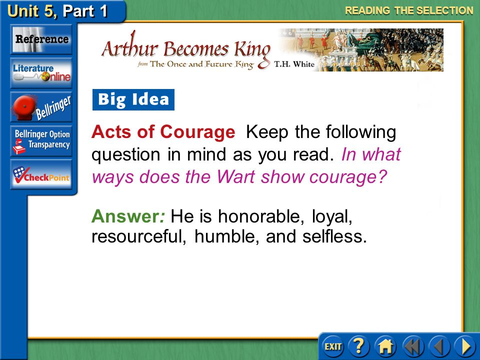 Answer: He is honorable, loyal, resourceful, humble, and selfless.