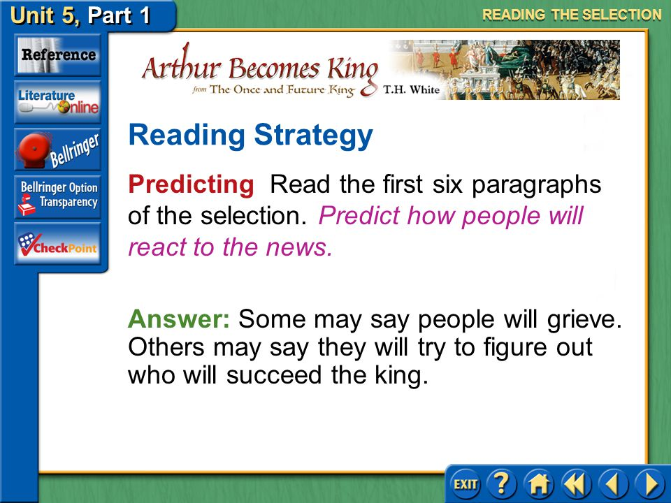 READING THE SELECTION Reading Strategy. Predicting Read the first six paragraphs of the selection. Predict how people will react to the news.