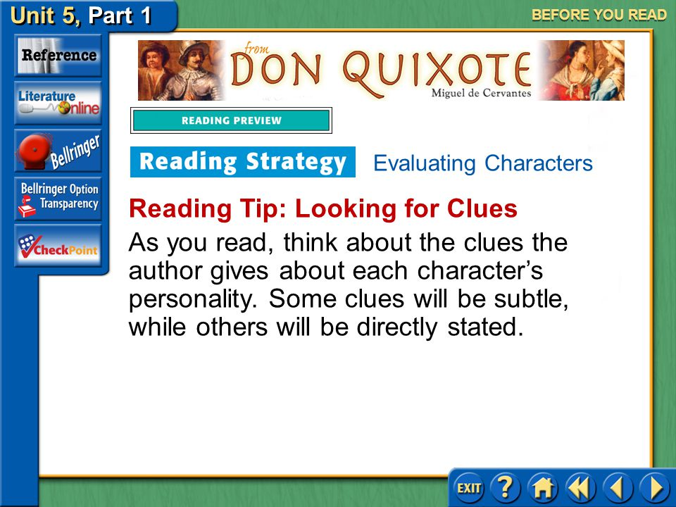 Reading Tip: Looking for Clues