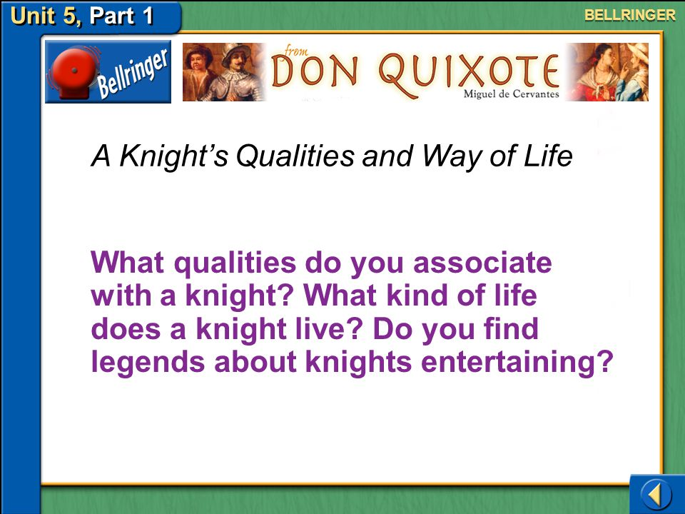 A Knight's Qualities and Way of Life