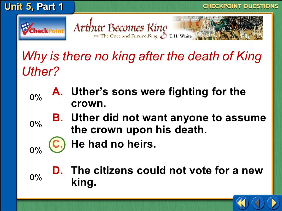 Why is there no king after the death of King Uther