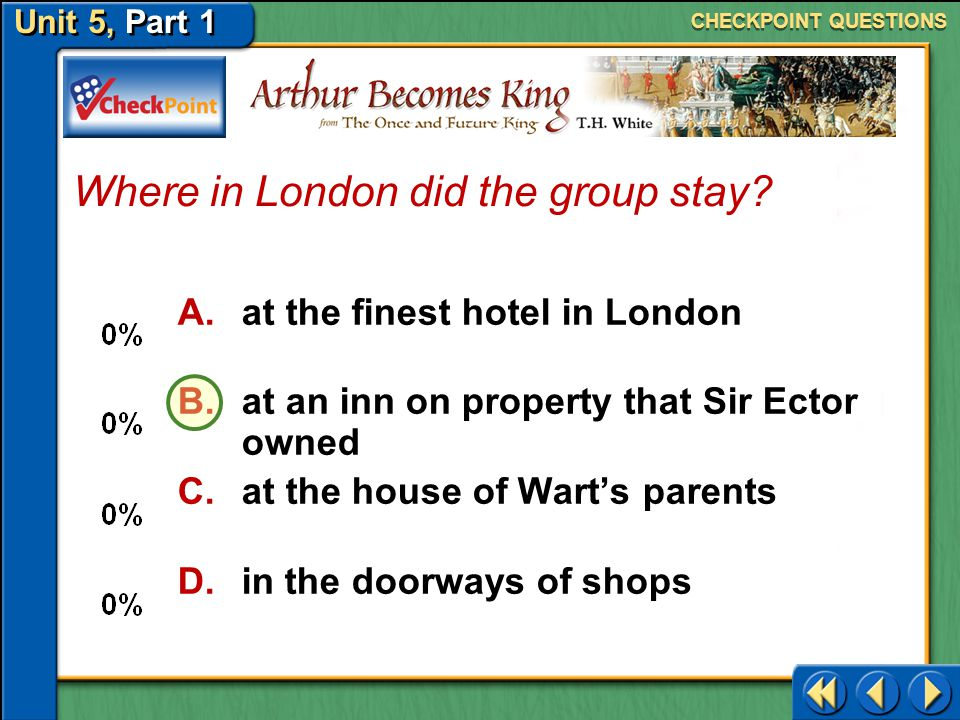 Where in London did the group stay