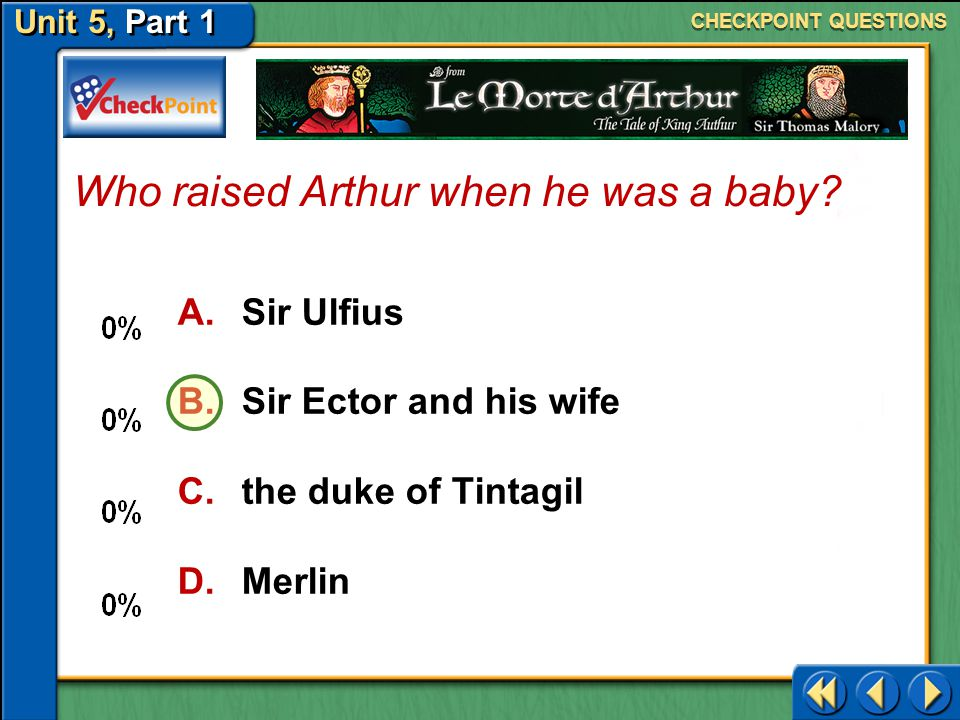 Who raised Arthur when he was a baby