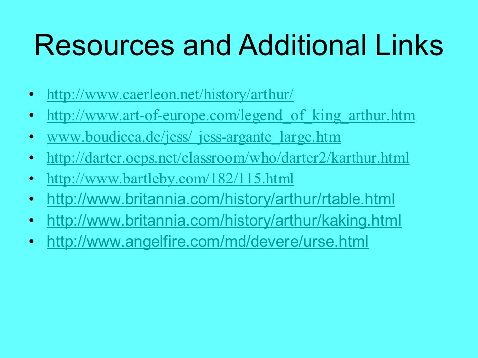 Resources and Additional Links
