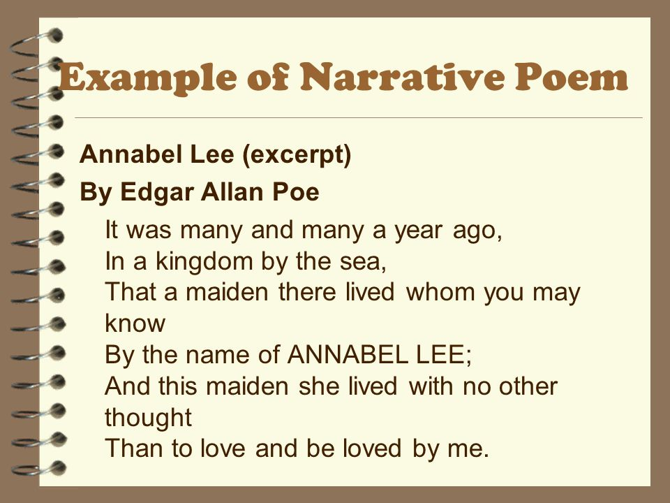 Example of Narrative Poem