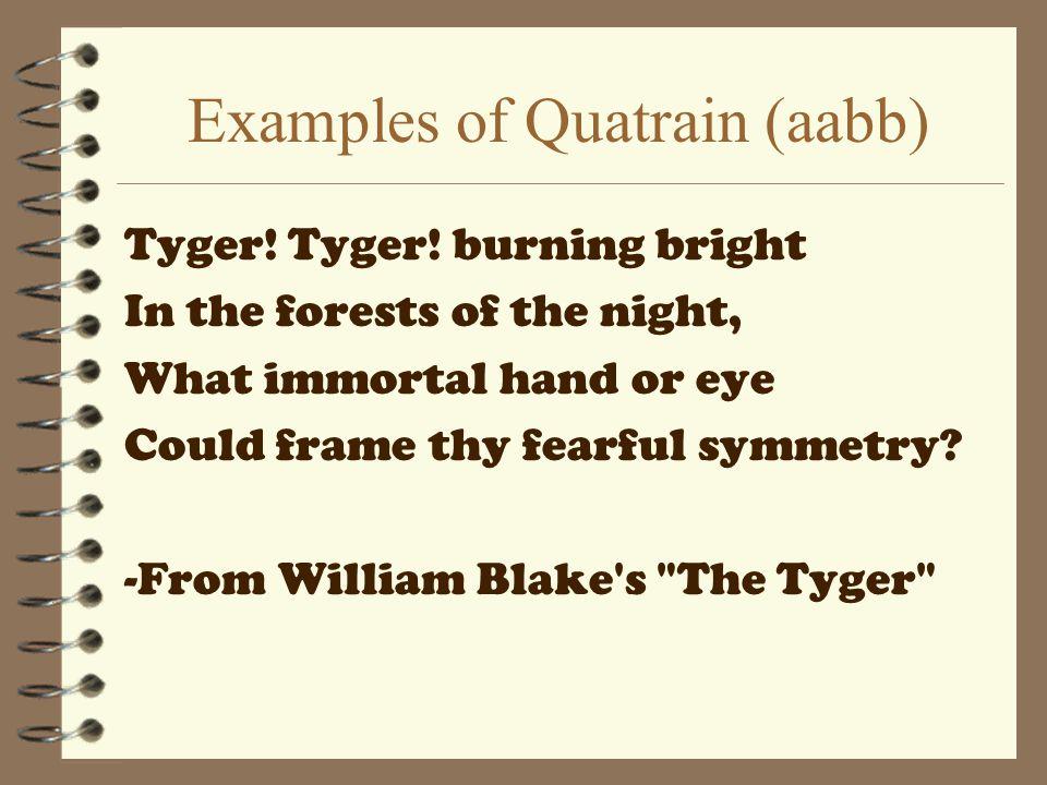 Examples of Quatrain (aabb)