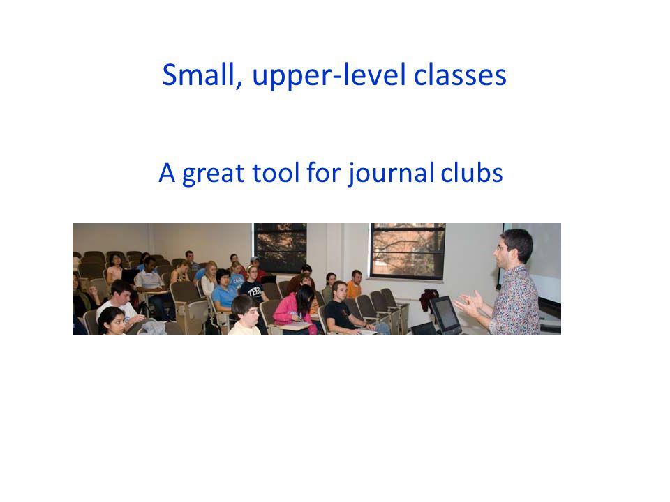 Small, upper-level classes