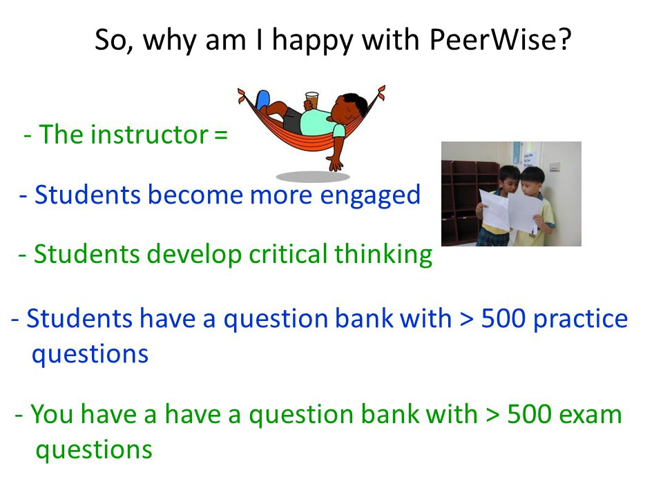So, why am I happy with PeerWise