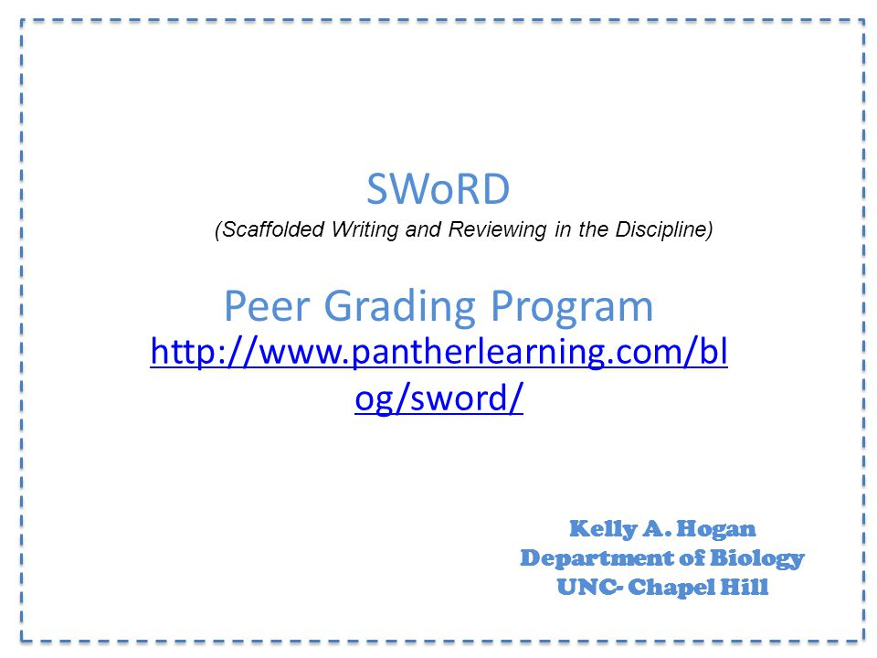 SWoRD Peer Grading Program