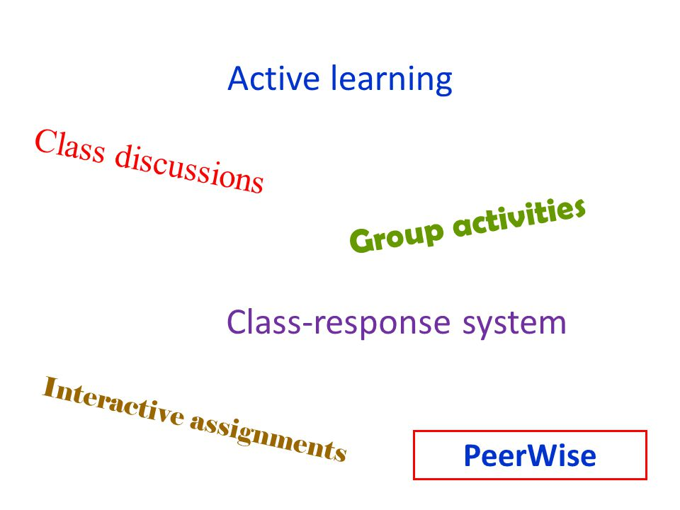 Class-response system