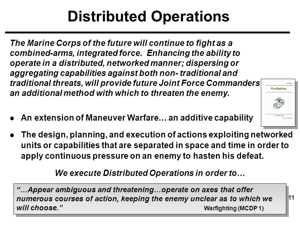 Distributed Operations