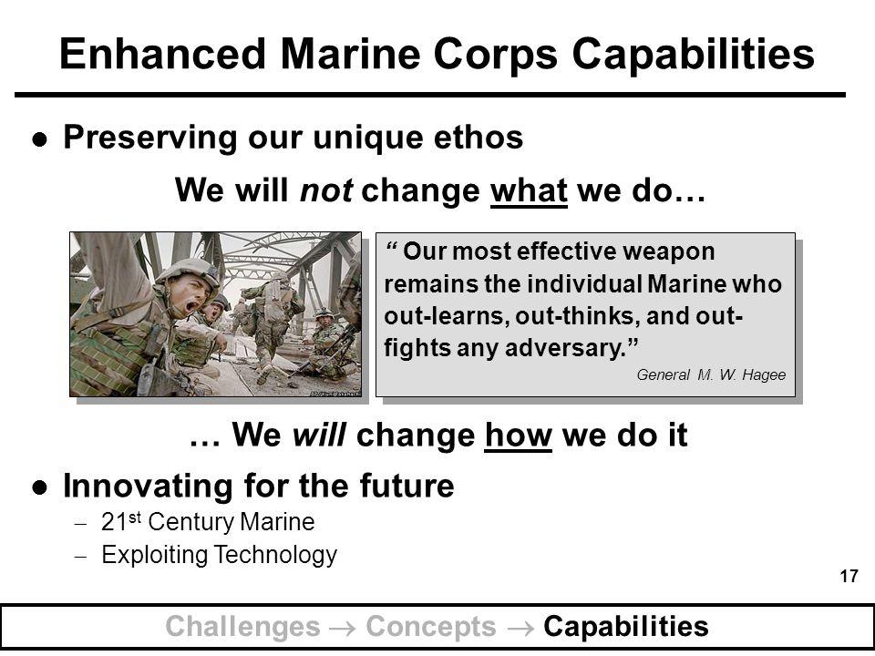 Enhanced Marine Corps Capabilities
