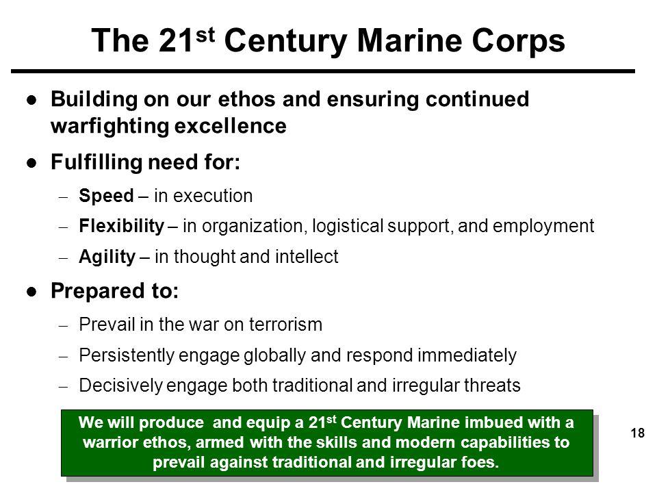 The 21st Century Marine Corps