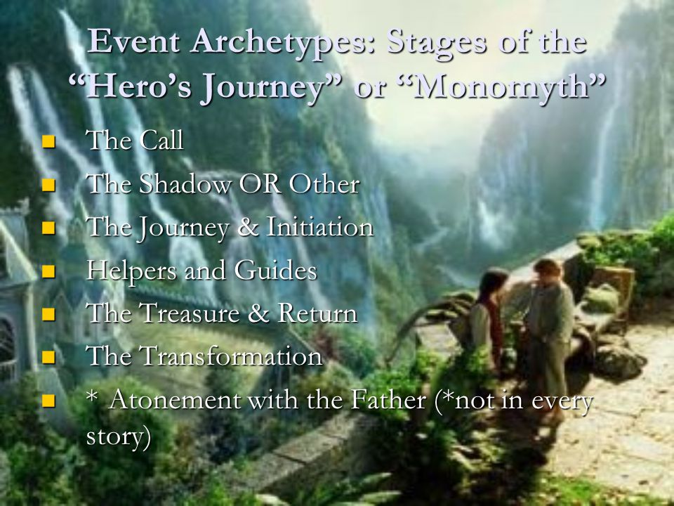 Event Archetypes: Stages of the Hero's Journey or Monomyth