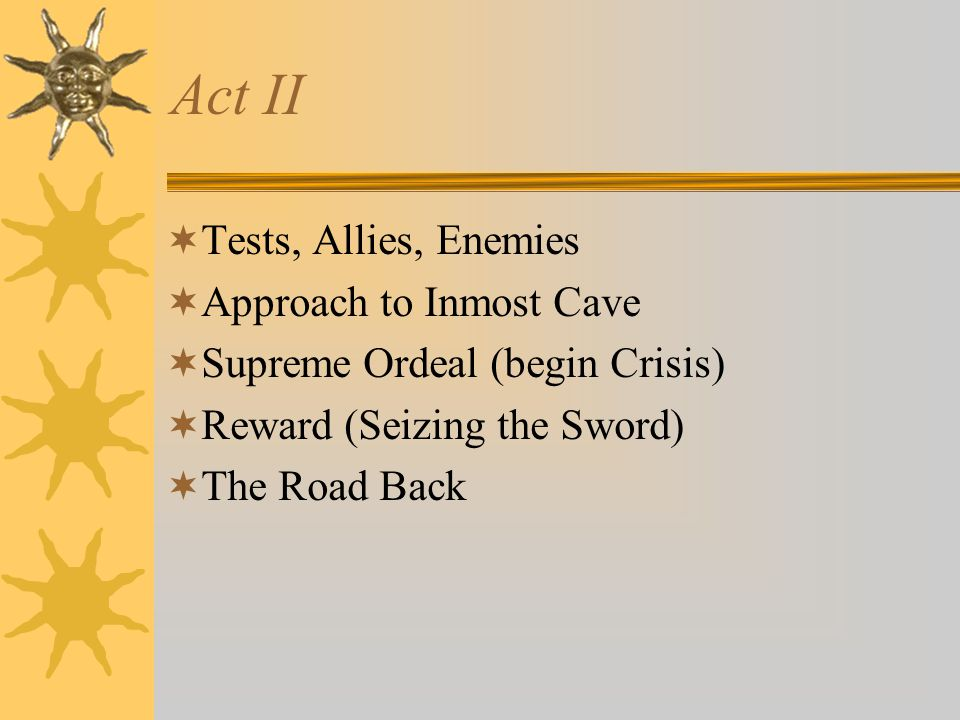 Act II Tests, Allies, Enemies Approach to Inmost Cave