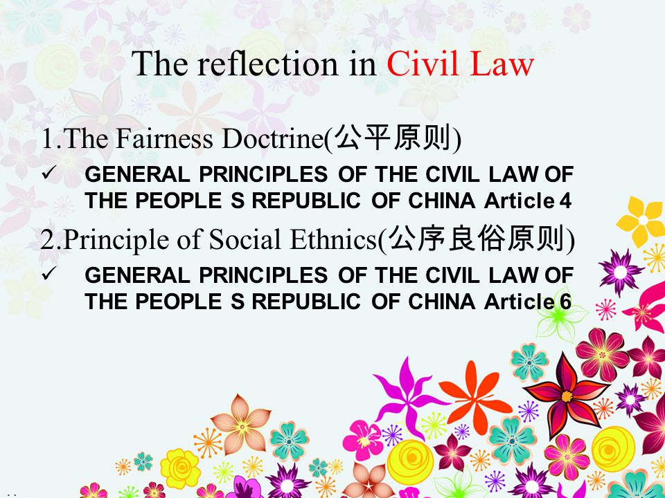 The reflection in Civil Law