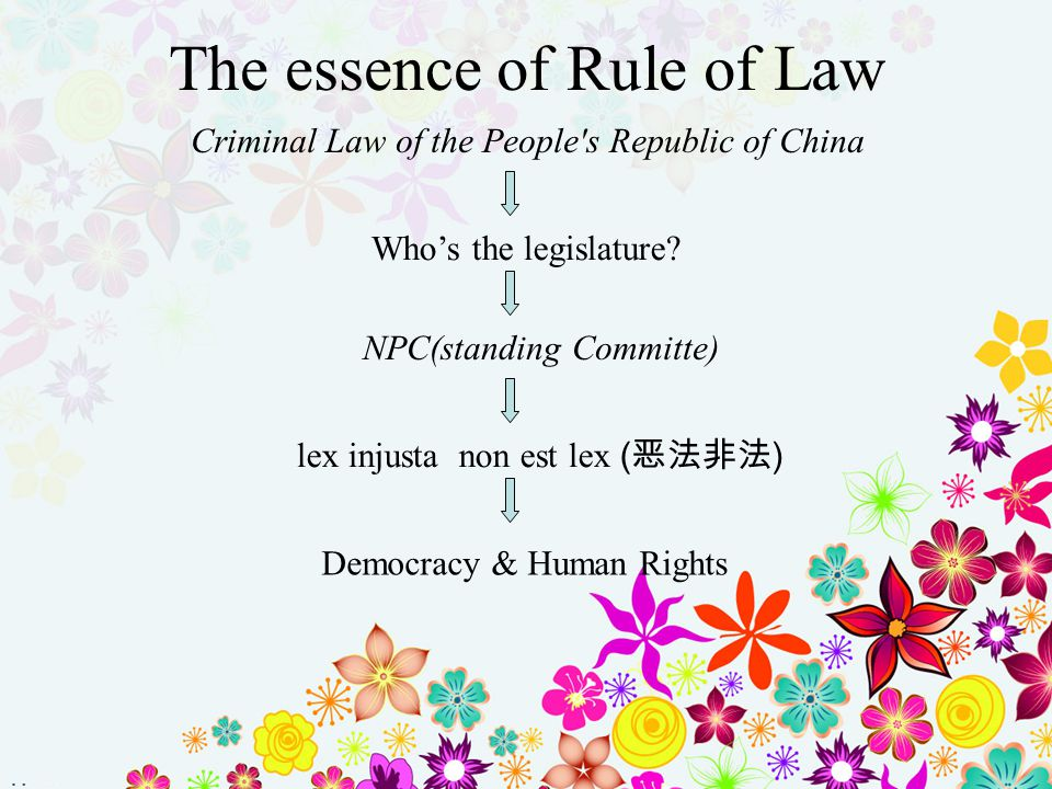 The essence of Rule of Law
