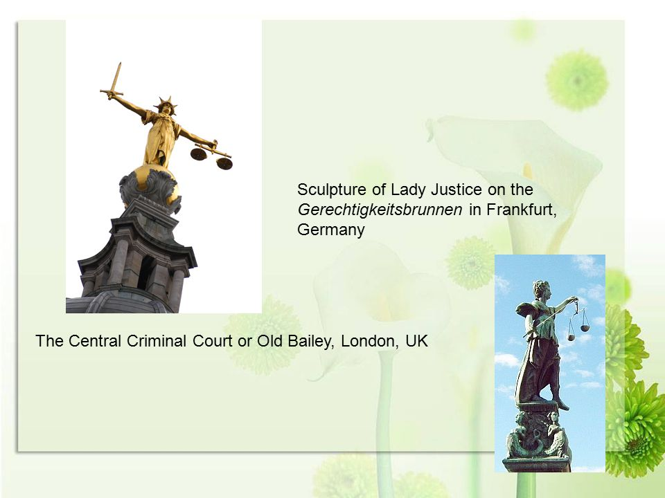 Sculpture of Lady Justice on the Gerechtigkeitsbrunnen in Frankfurt, Germany