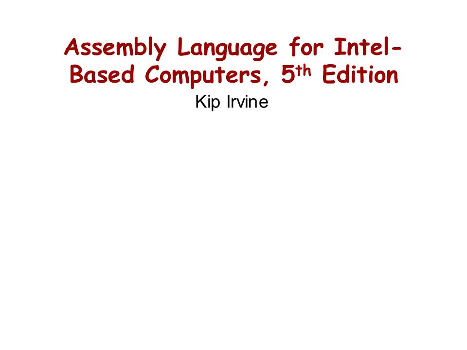 Chapter Overview Basic Elements of Assembly Language