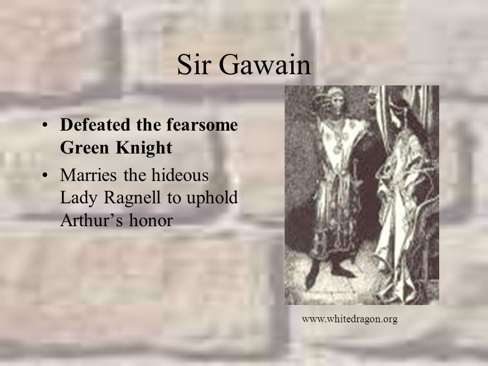 Sir Gawain Defeated the fearsome Green Knight