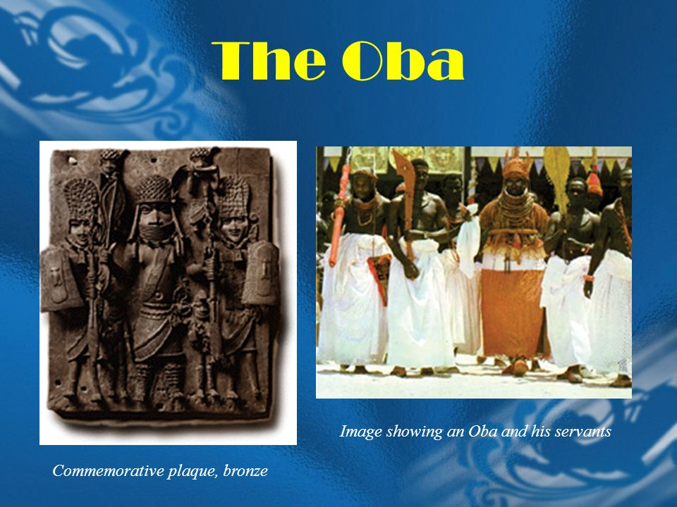 The Oba Image showing an Oba and his servants