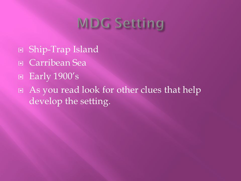 MDG Setting Ship-Trap Island Carribean Sea Early 1900's